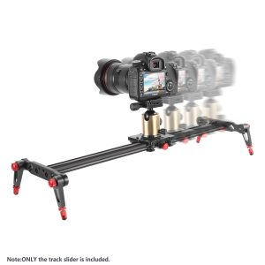 Camera Track Slider Video Stabilizer Rail with 4 Bearings for DSLR Camera DV Video Camcorder Film Photography, Load up to 17.5 pounds/8 kilograms