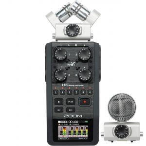[BUY-NEW] Zoom H6 6-Input / 6-Track Portable Handy Recorder with Interchangeable Mic Capsules